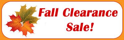 Fall Clearance Sale