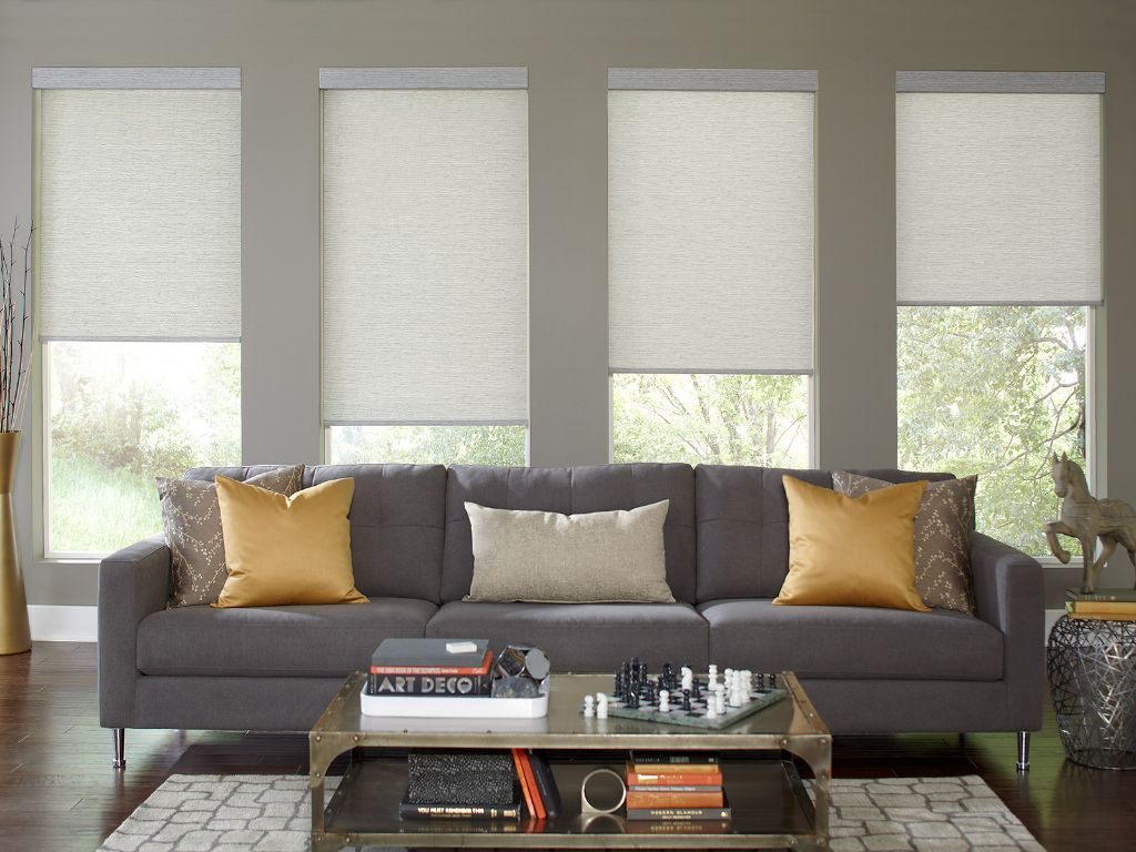 in displayed roller custom made shades shade illusion blinds to room living setting go a silverpoint en products rollershades usa