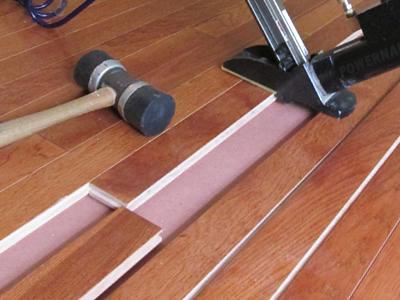 Installation of Hardwood Floor