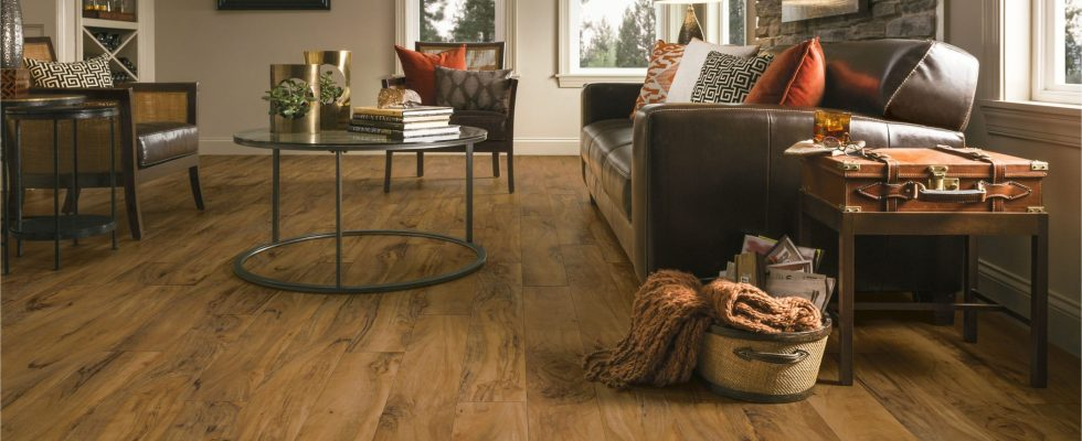 Transitional-Living-Room-with-Luxury-Vinyl-Tile-warm-tone-flooring
